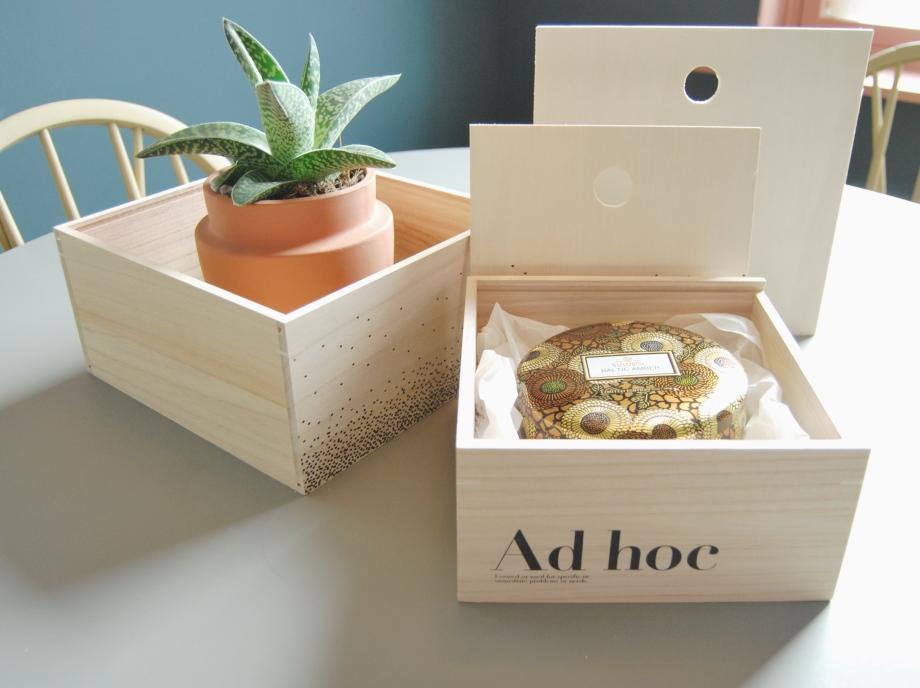 Her har vi brukt den minste boksen som gaveeske
